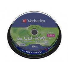 Verbatim cd-rw 8x-12x spindle (43480) 1/10