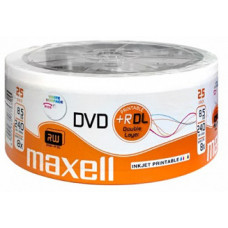 Maxell dvd+r double layer printable 8,5GB 1/25