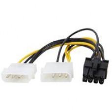 E-Green Kabl-Adapter naponski za PCI Expess VGA (8-pin) - 2xMolex