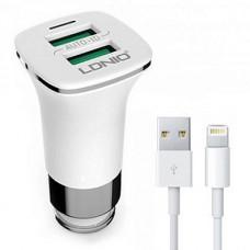 Brzi auto punjač Ldnio C301 + iPhone kabl