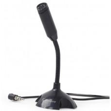 MIC-D-02 Gembird Desktop mikrofon, savitljivo telo, black, 3.5mm