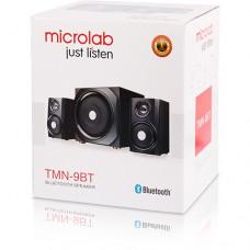 Microlab Drveni stereo zvučnici 40W bluetooth RMS USB 3.5mm SD kartica crni | TMN9BT