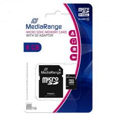 MicroSD MediaRange (+ SD adapter) 8GB klasa 10