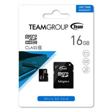 MicroSD Teamgroup (+ SD adapter) 16GB klasa 10