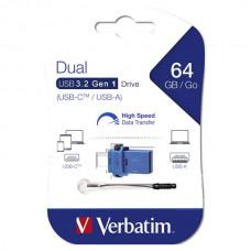 USB memorija Verbatim Dual (USB – micro USB tip C) 64GB 3.2