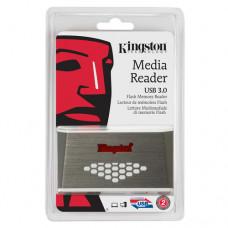 KINGSTON USB 3.0 High-Speed Media Reader - FCR-HS4 Čitač kartica, USB 3.0, Metalik