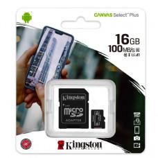 MicroSD Kingston (+ SD adapter) 16GB klasa 10
