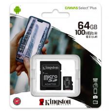 MicroSD Kingston (+ SD adapter) 64GB klasa 10