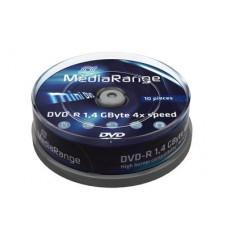 Media range mini dvd-r 8cm 1.4gb 1/10