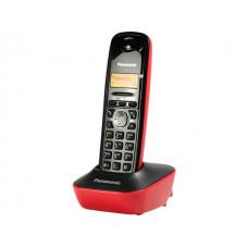 Telefon Panasonic KX-TG1611 bežični crno crveni